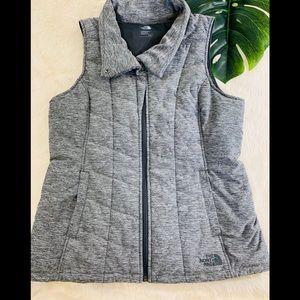 NORTH FACE Women's Vest Grey Black Size Large